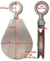 600lbs Swivel Eye Snatch Block Hoist Rigging 2 Pulley