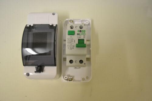 2 Polos 2 módulo RCD Ip30 Caja Caja RCD Caja,40 una 30ma o 63bis 30m un RCD