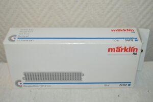 LOT-DE-10-RAILS-VOIE-DROITE-MARKLIN-24172-TRAIN-HO-NEUF-BOITE-171-7-MM-RETCHE