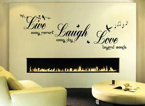 Live Love Laugh Wall Quote Sticker Art Decor Living Room Hall Bedroom Ebay