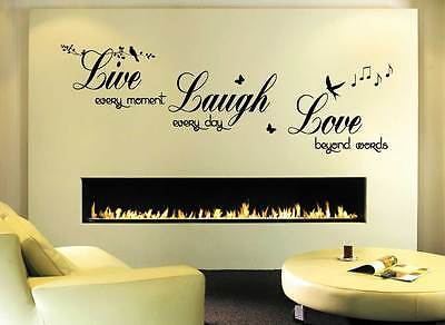 Wall  Sticker wall quote Live Love Laugh- Art Decor  living room hall bedroom