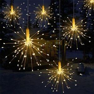 Decor Garland Lights Outdoor Firework Christmas Lights Solar Power LED String