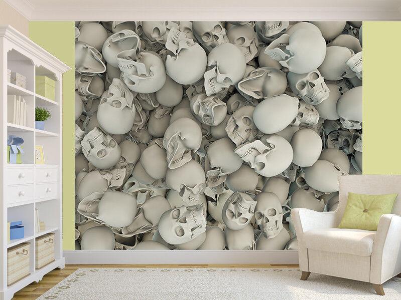 Skulls 3D photo Wallpaper wall mural (44805432) 3D skulls filling