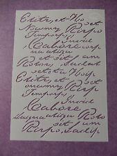 """Viva Decor: Schablone """"Vintage / Steampunk - Brief"""" 14,8 x 21 cm"""