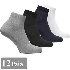 12-PAIA-CALZE-CALZINI-UOMO-COTONE-SPUGNA-SPORT-TENNIS-SPORTIVE-MISURA-40-46