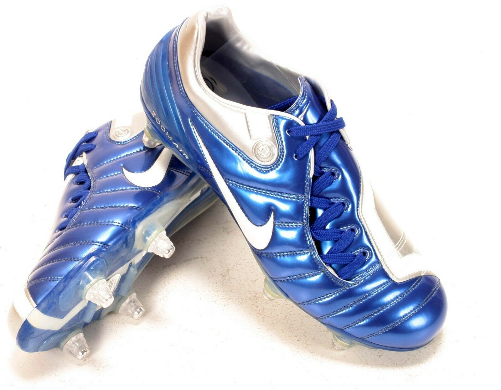 Nike Air Zoom Total 90 supremacía SG botas Azul Plata7 EU41 Nuevo Y En Caja 313843411