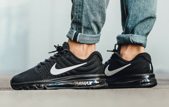 on sale 97cd1 c64f9 NIKE AIR MAX 2017 Mens Size 8 Black White Anthracite 849559 001