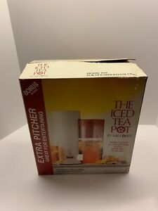 Vintage-The-Iced-Tea-Pot-Mr-Coffee-TM1-Extra-Pitcher-2-Qts-Never-Used-Orig-Box