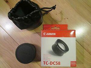 Canon TC-DC58 Tele-Coverter Lens 1.5x Digital Camera Accessory