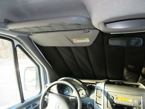 Mercedes-Sprinter-windshield-pleated-privacy-curtains-magnetic-insulated-nylon