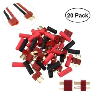 20pcs-Ultra-T-Plug-Connectors-Deans-Style-20-Shrink-Tubing-for-RC-LiPo-Battery