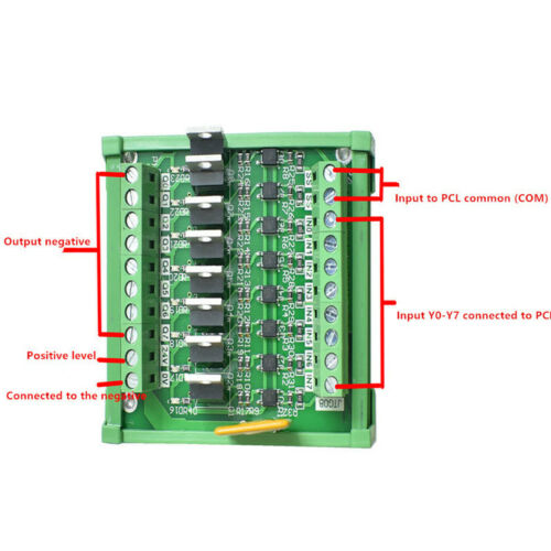 PLC 8-channel transistor module industrial control drive optocoupler isolator