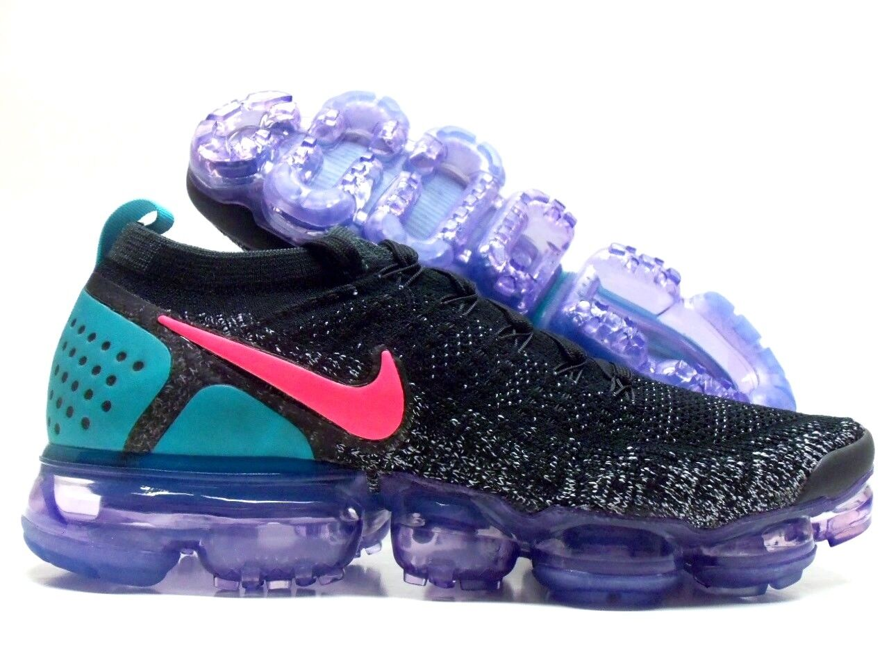 NIKE AIR VAPORMAX FLYKNIT 2 BLACK HOT PUNCH-WHITE SIZE MEN'S 8 [942842-003]