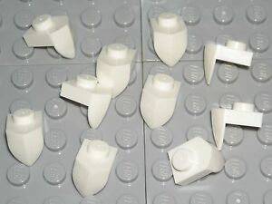 LEGO-10-White-Plates-Modified-1-x-1-with-Tooth-Vertical-Mixels-Teeth-NEW
