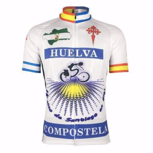 Spanish Huelva Compostela cycling Short Sleeve Jersey Cycling Jersey
