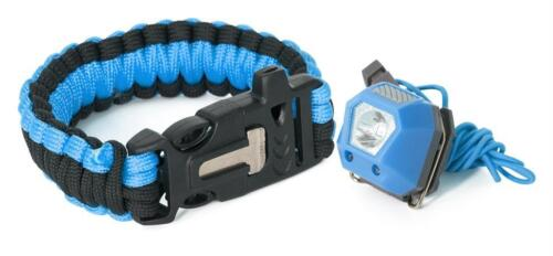Trespass nubbet survival kit tête torche paracord bracelet /& flint