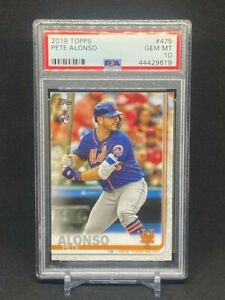 2019 Topps Series 2 #475 Pete Alonso RC PSA 10 GEM MINT NEW YORK METS Rookie