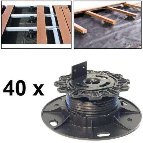 40x Eurotec Verstellfuß Pro S L Adapter Terrasse 3,0-5,3cm Unterkonstruktion