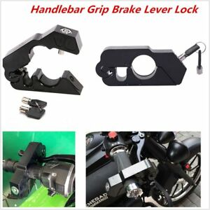1PC CNC Aluminum Handle Grip Safety Locks Motorcycle Brake Clutch Levers Locks