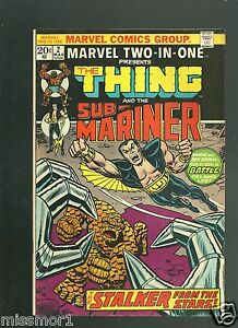 Marvel-Two-in-One-Comic-2-VF-NM-1970-039-s-Bronze-Age-book-Sub-Mariner-Thing