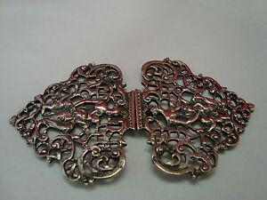 Antike-Trachtenschnalle-aus-Silber-1850-RAR