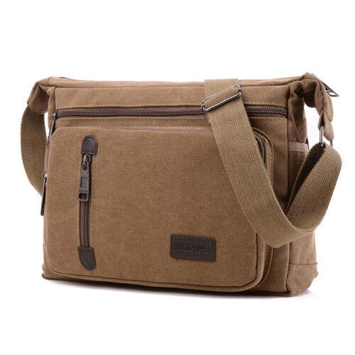 Men Retro Satchel Military Work Canvas Travel Crossbody Shoulder Messenger Bag