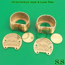 HIGH GRADE Dental Denture Upper & Lower Flask New Lab Professional DN-422