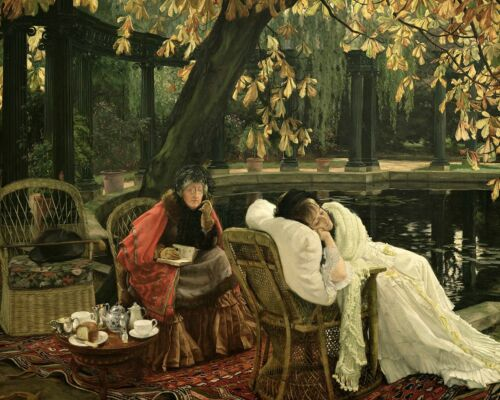 A Convalescent by James Tissot Victorian Old Young Woman Garden 8x10 Print 35