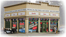 Walthers Trainline HO Scale Building/Structure Wallschlager Motors (Assembled)