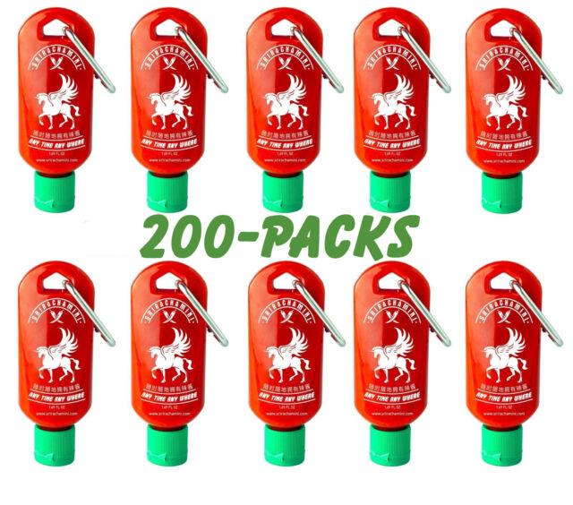 Sriracha Mini Hot Sauce Keychain Bottle 1.7oz 200-Pack (US Shipped Empty)