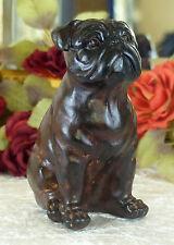 Hund Skulptur Bulldogge Mops Hundefigur Dogge 15 cm Figur Tier Antik Tierfigur