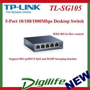TP-LINK-TL-SG105-5-Port-10-100-1000Mbps-Desktop-Switch