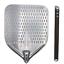 miniatuur 1 - Pala pizza in alluminio forata 30x35cm - NUOVA - PROFESSIONALE - Argento/Marrone
