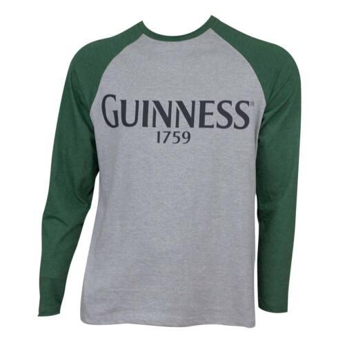 Guinness Baseball Tee Shirt Grey