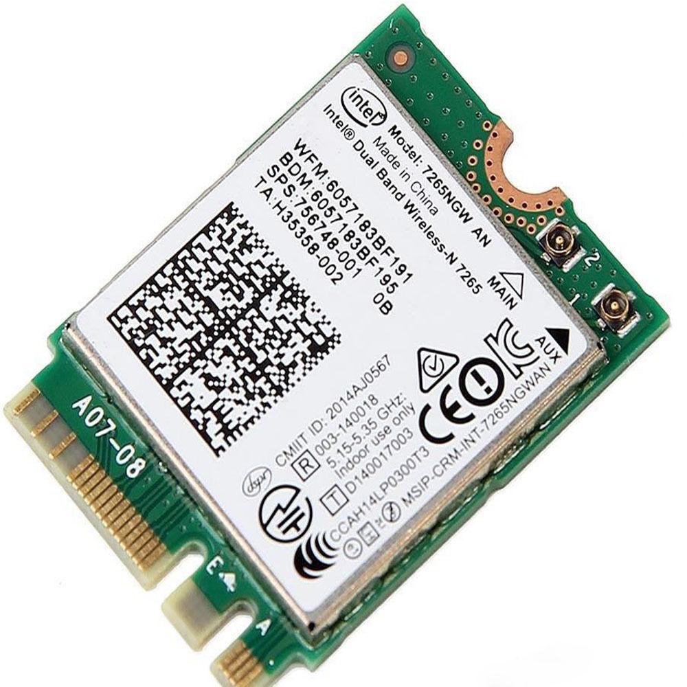 Intel Dual band Wireless-N 7265 AN 7265NGW Wifi NGFF Card for HP SPS:756748-001