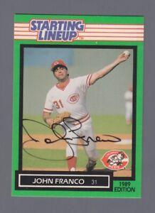 John Franco Signed 1989 Starting Lineup Card Auto with B&E Hologram