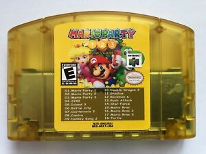 Nintendo N64 18 in 1 Card Mario Party 1 2 3 Aggregation AND15 NES US Edition