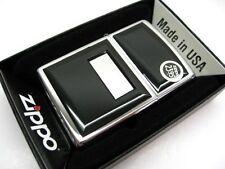 ZIPPO Full Size High POLISH Chrome Black Ultralite Windproof Lighter! 355