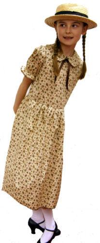 Sizes 10-14 Ladies 1940/'S//VICTORIAN//EDWARDIAN FLORAL DRESS Fancy Dress Costume