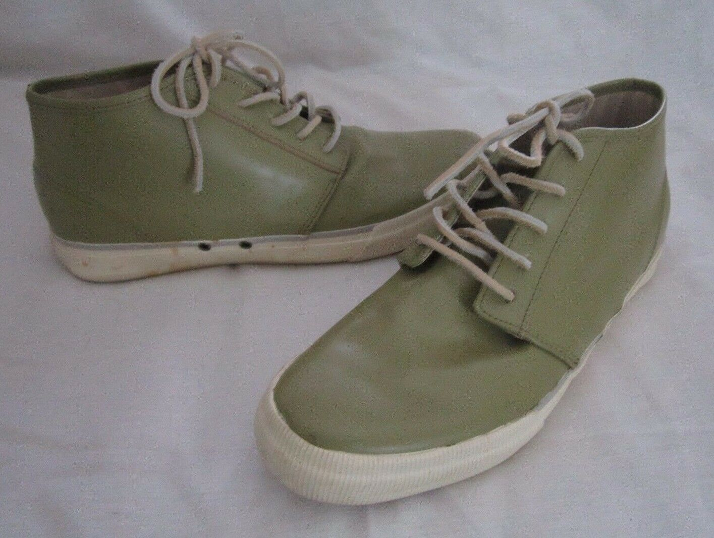 Sperry Top-Sider Get Wet Chukkas Green Leather Boat Deck Hi Top Shoes Mens 11 M