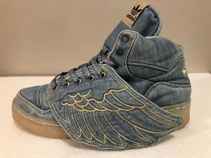 sale retailer df4bb 1488f Image is loading JEREMY-SCOTT-JS-WINGS-1-0-DENIM-Adidas-