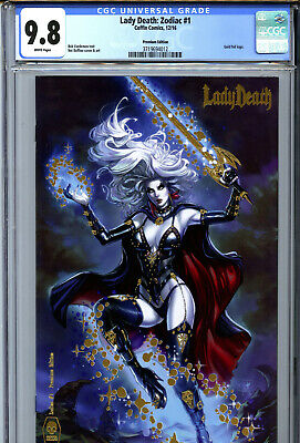 2016 Coffin CGC 9.8 White Premium Gold Foil Lady Death Zodiac #1