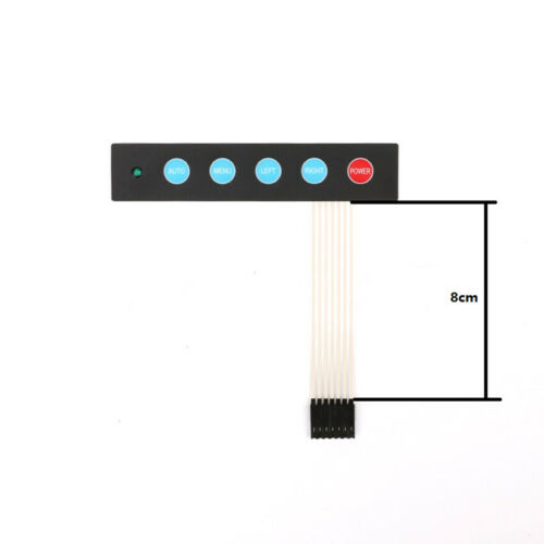 5 Key Membrane Switch Display Button Switch with LED Light DIY Kit for Arduino
