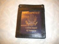 Brand Passport Holder Neck Travel Pouch Wallet/ Black And A Credit Card H