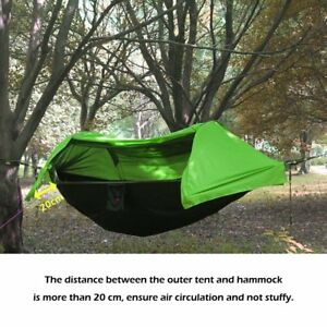 Medium image of image is loading portable tent camping hammock mosquito   rain cover