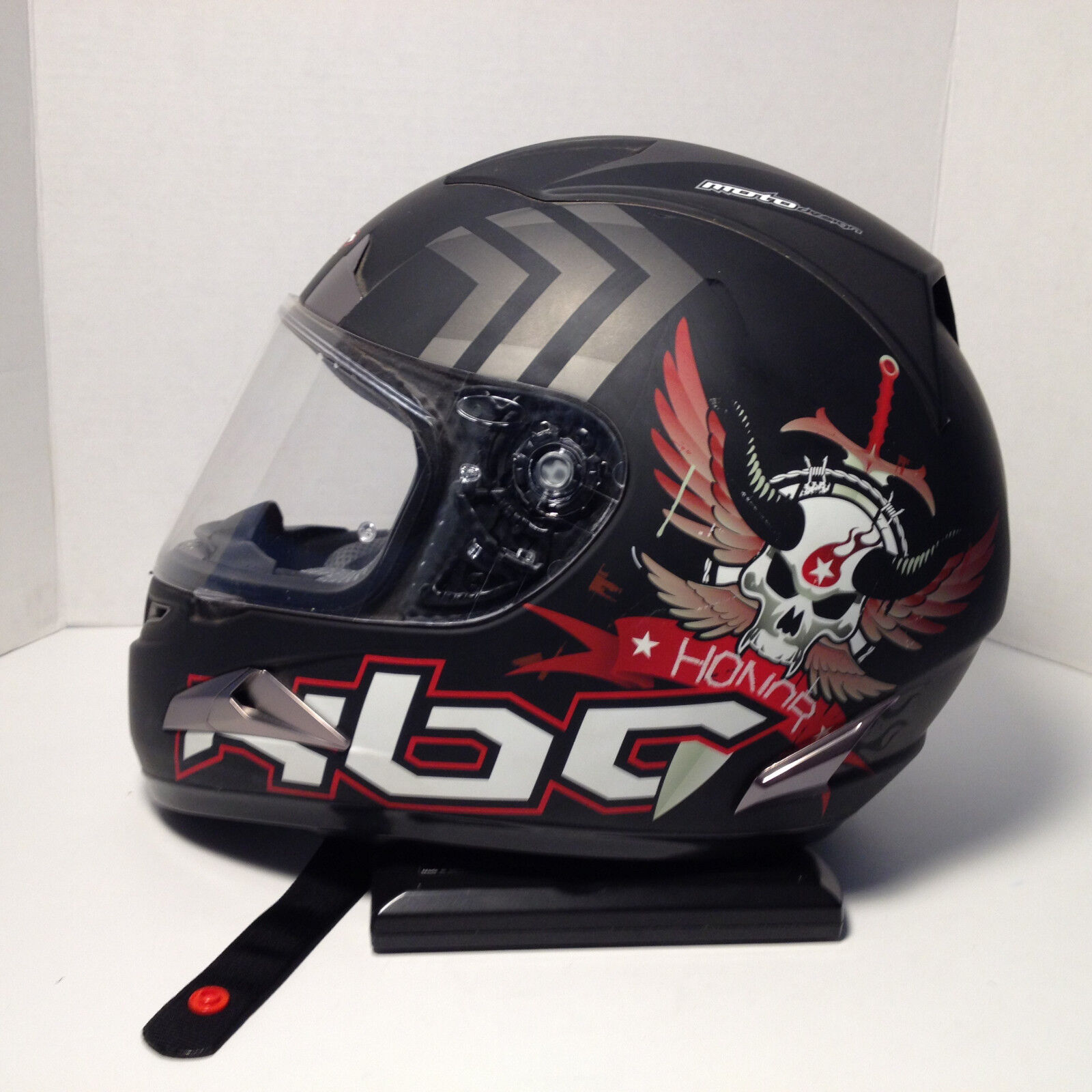 Kbc motorcycle helmet honor and strength moto design size large 59-60cm FTOshop