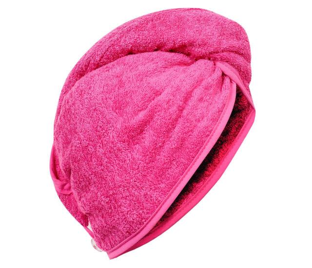 Haarturban Haar Turban Kopfhandtuch Handtuch pink ONESIZE 100% Cotton