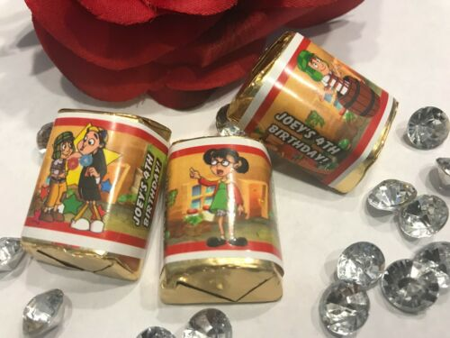 30 EL CHAVO PERSONALIZED GLOSSY HERSHEY NUGGET WRAPPERS BIRTHDAY PARTY FAVORS