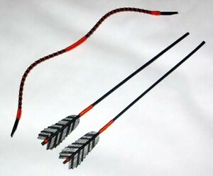 Japanese-Doll-Miniature-KYUDO-ARCHERY-SET-01-BOW-ARROW