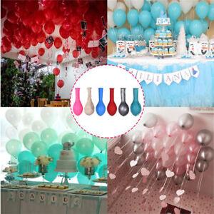 100-Perle-Metalique-Ballons-Qualite-Superieure-dans-la-List-50-Metre-Ruban-Frise